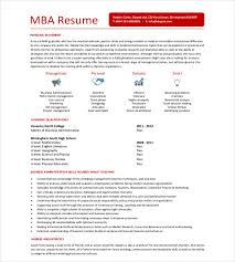 Mba Resume Examples Free Resume Templates 2018