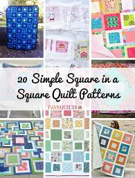 20 Simple Square in a Square Quilt Patterns | FaveQuilts.com &  Adamdwight.com