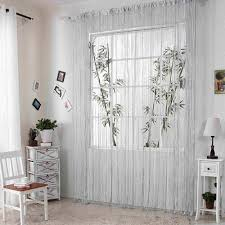 Net Curtains For Living Room Sparkle String Window Door Curtain Net Panel Fly Screen Room
