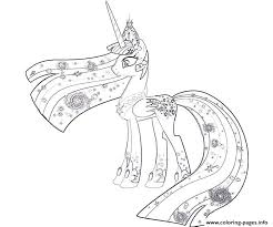 Small Picture My Little Pony Princess Celestia Coloring Pages Printable