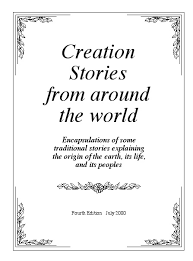 creation stories title page of the print version