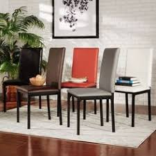 darcy espresso metal upholstered dining chair set of 2 by inspire q bold