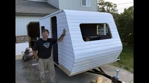 Diy travel trailer Build How To Build Diy Travel Trailer Part 34 installing The Rubber Roof Siding Part 2 Youtube How To Build Diy Travel Trailer Part 34 installing The Rubber