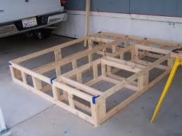Bed Frame:Diy Bed Frame With Drawers Build Your Own Diy Bed Frame With  Drawers