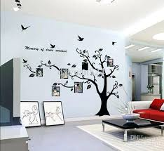 large photo frame family tree wall art stickers decoration with inside vinyl decal trees ideas branch