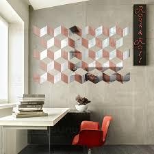 Wall Bedroom Decor Mesmerizing 48D Bicolor Decorative Acrylic Mirror Wall Stickers Door Toilet Tile