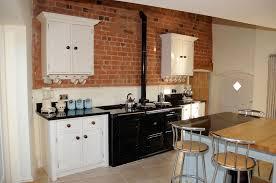 Red Brick Tiles Kitchen White Kitchen Cabinets With Red Brick Backsplash Cliff Kitchen