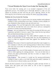 cover letter for rn job 7 great websites for cover letter for nursing job