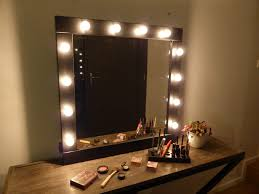 Mirror Lights Bedroom Bedroom Stunning Lighted Make Up Mirror And Glass Vanity Table