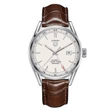 tag heuer carrera watches beaverbrooks the jewellers tag heuer carrera twin time automatic men s watch