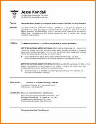 Cna Resume Examples 100 cna resume samples prefix chart 23
