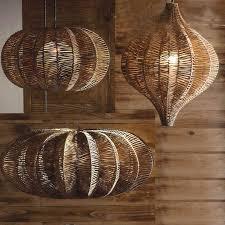 tropical pendant lighting. Wicker Hanging Lamp (3 Sizes) Tropical Pendant Lighting 1