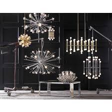 meurice nickel chandelier  modern chandeliers  jonathan adler