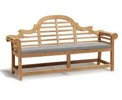 lutyens style 4 seater garden bench cushion