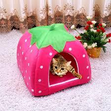 <b>Hot Sale Cute Pet</b> Supplies Dog House Soft Pink Cat Rabbit Bed ...