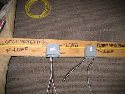 how to wire a gfci outlet reef2reef saltwater and reef aquarium just remember the load is what the gfci is driving sorry my pic on the right the wording is cut off it says power from panel