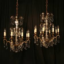 french antique chandeliers pertaining to newest a french pair of gilded 6 light antique chandeliers