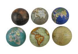 Decorative Globe Balls Set of 60 Globes of the World Decorative Spheres Zeckos 3