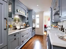 kitchen cool galley kitchen design with gray cabinet and wooden galley kitchen design ideas
