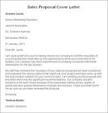 Sales Proposal Cover Letter Iinan Co