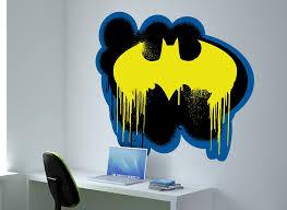 spray paint wall. batman bat symbol spray paint wall decal paint n