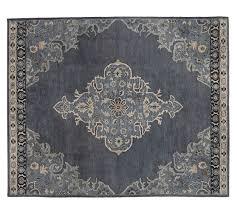 pottery barn bryson persian style rug navy blue pottery barn rugs