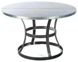 zinc top round dining table zinc top round dining table in decor abbott zinc top rectangular