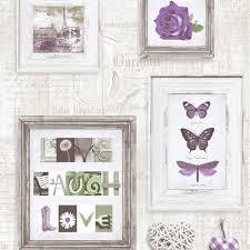 live laugh love frames wallpaper purple cream 131504