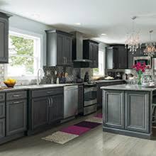 Leyden Gray Kitchen Cabinets In Maple Cobblestone