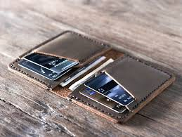mens leather credit card holder