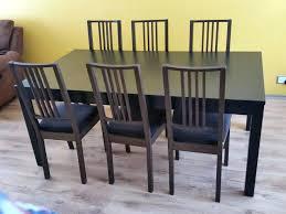 bjursta dining table brilliant design extendable and 6 chairs brown black bjursta dining table