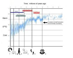 climate effects on human evolution the smithsonian institution s oxygen isotope curve icircacute18o for the past 10 million years major adaptions to