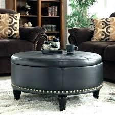 square tufted leather ottoman square tufted leather ottoman oversized round
