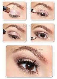 simple natural makeup with pink and brown eyeshadow tutorial step by step