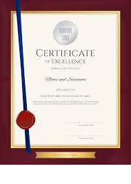 A4 Certificates