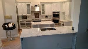waterfall edge countertop laminate 3 cm arctic white kitchen with waterfall edge