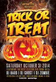 Halloween Party Flyer Trick Or Treat Halloween Party Flyer Awesomeflyer 6