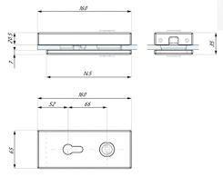 glass door magnetic lock prepared for
