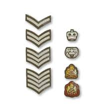 British Rank Insignia Chart Army No2 Dress Rank Insignia