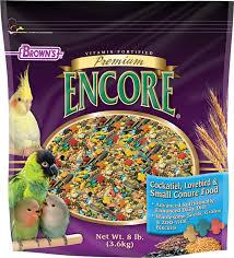 Cockatiel Diet Chart Encore Premium Cockatiel Food F M Browns
