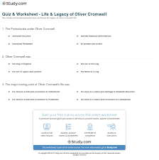 quiz worksheet life legacy of oliver cromwell com print oliver cromwell hero or villain facts timeline worksheet