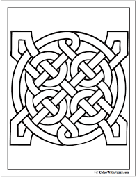 Small Picture Celtic Pattern Coloring Pages Geometric Infinity