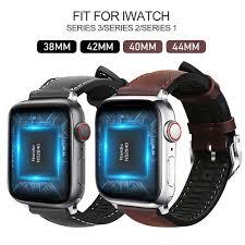 Dây Đeo Da Kiểu Dáng Thời Trang Dành Cho Đồng Hồ Thông Minh Apple Watch  Series 5 4 3 2 1 38mm 40mm 42mm 44mm Iwatch Pulseira, giá chỉ 99,742đ! Mua  ngay