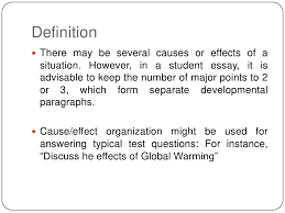 cause and effect essay definition<br