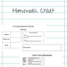 Homework Chart For Parents Homework Cover Sheet