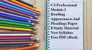 Pleadings Paper Cs Professional Module 3 Drafting Appearances And Pleadings Paper 8