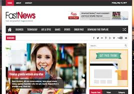 Fast News Responsive Blogger Template 2014 Download