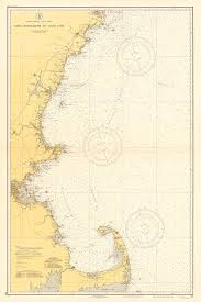 Nautical Charts New England Coast 1935 Nautical Chart Of The New England Coastline In 2019
