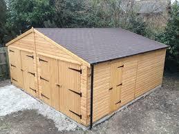 wooden sheds garages diy