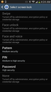 Pattern Password Disable Stunning Turned Off By Administrator Encryption Policy Or Credential